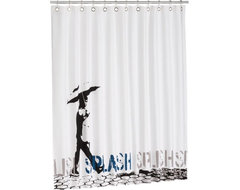 Splish Splash Shower Curtain contemporary shower curtains