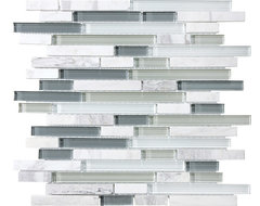 Bliss - Glass Stone & Glass, Slate, Quartz |  Blend Mosaic Tile  kitchen tile