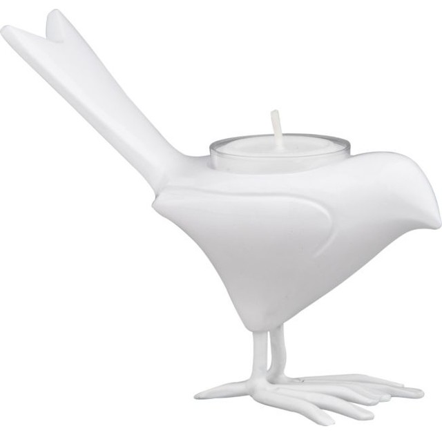 White Chick Candleholder modern candles and candle holders