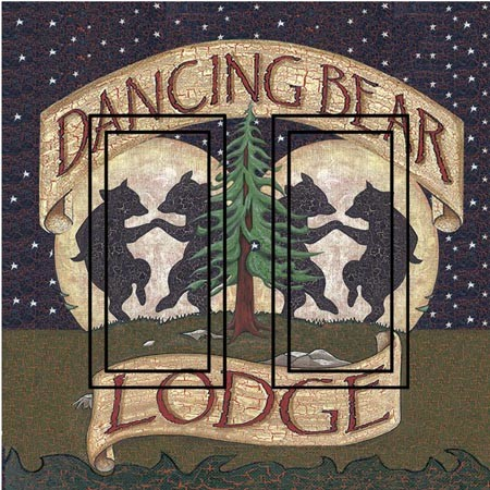 Dancing Bear Double Rocker Peel and Stick Switch Plate Cover rustic-wall-decals