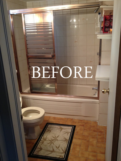 Inexpensive Basement Bathroom Remodel Modern Ottawa By Emily Tait Designs