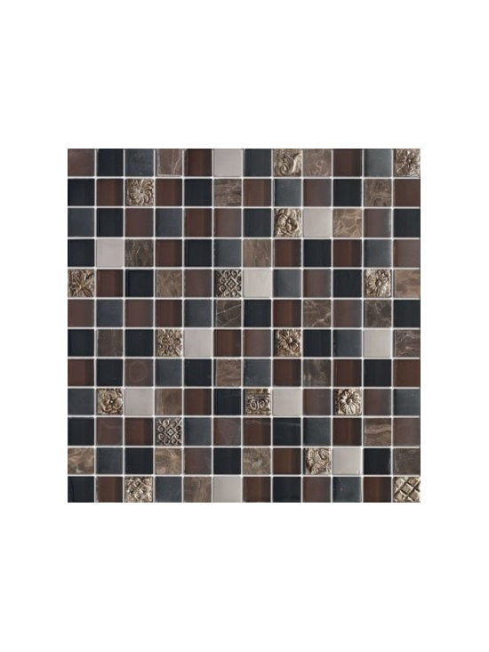 Fusion Glass and Stone Mosaic Tile -