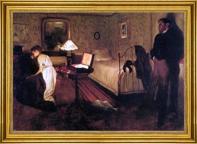 "Edgar Degas-16""x24"" Framed Canvas traditional-artwork"