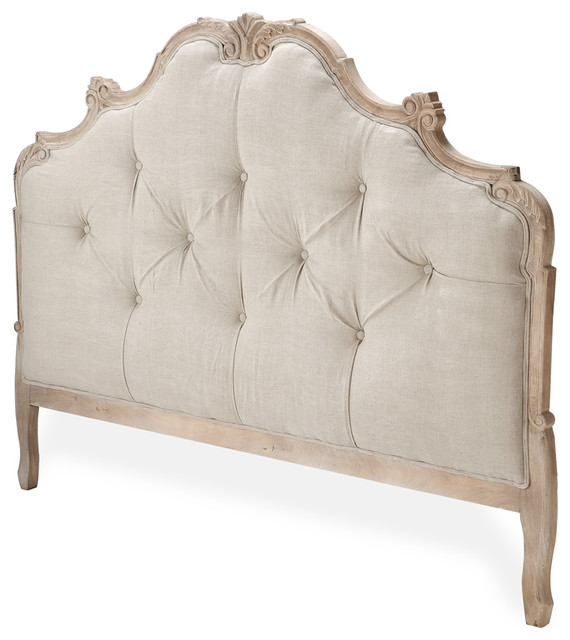 julianna natural oak french country queen headboard