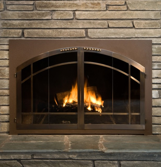 glass door for wood burning fireplace fireplace