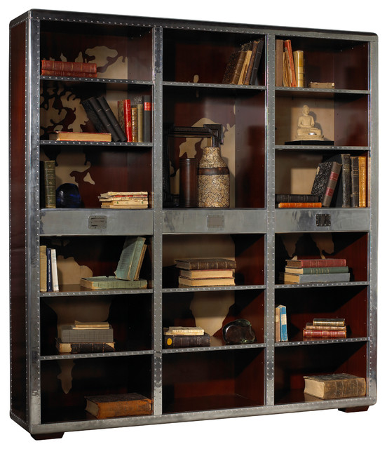 French Heritage Ferault Bookcase Industrial Bookcases