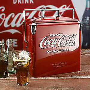 classic coca cola picnic cooler eclectic coolers and ice chests by frontgate. Black Bedroom Furniture Sets. Home Design Ideas