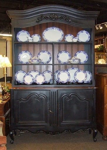 Black China Cabinet / Hutch - Eclectic - China Cabinets And Hutches ...
