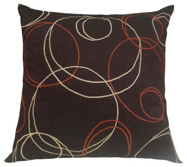 Rizzy Home - Brown and Rust Decorative Accent Pillows (Set of 2) - T02123 traditional-decorative-pillows