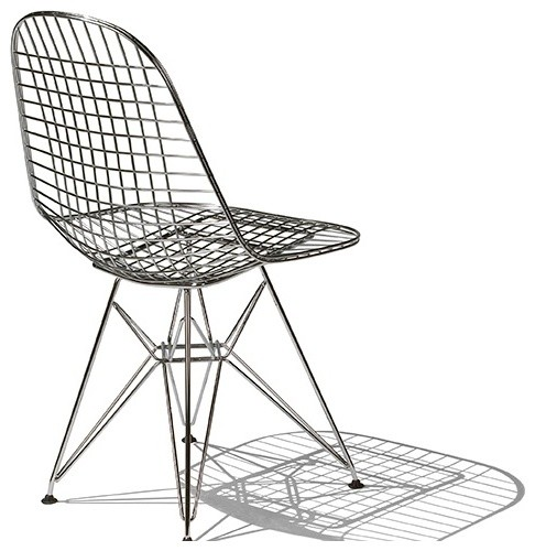 Eames Wire Chair - Herman Miller modern dining chairs and benches