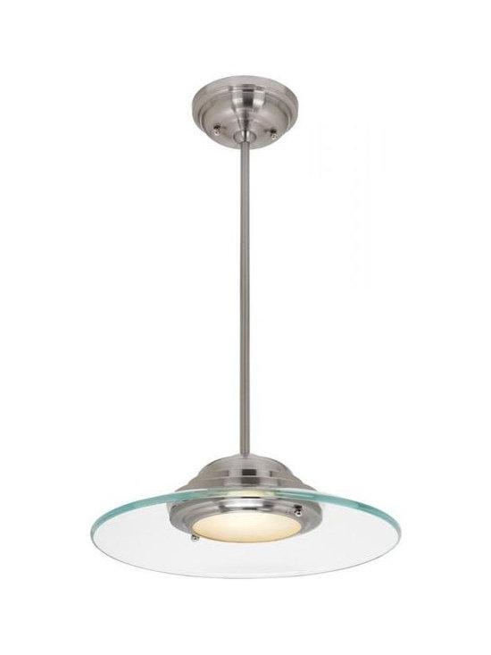 Access Lighting 50441-BS/8CL One Light Steel Down Pendant -