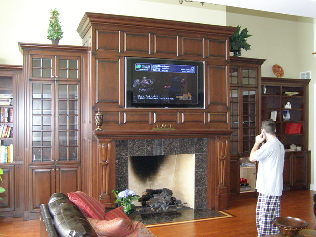 Amish Custom Kitchens - Fireplace traditional-family-room
