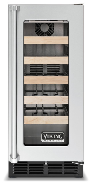 "Viking 15"" Undercounter Wine Cellar, Stainless Steel Right Hinge 