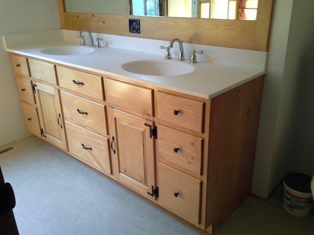 knotty pine vanity contemporary bathroom vanities and