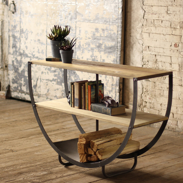 ... Wooden Shelves And Metal Bottom eclectic-side-tables-and-end-tables