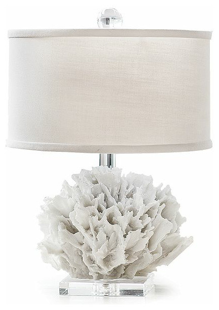 Regina Andrew Table Lamp, Mini Ribbon Coral tropical-table-lamps