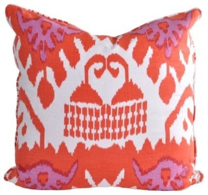 Queen Throw Pillows : Quadrille Kazak Designer Throw Pillow - Eclectic - Decorative Pillows - by oomph