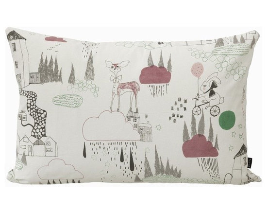 Ferm Living In The Rain Organic Pillow - Ferm Living In The Rain Organic Pillow