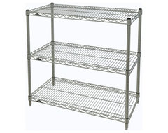 Metro Shelving Unit - 36x18x33, Chrome industrial-garage-and-tool-storage