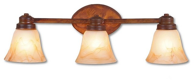 Rustic Lakeshire Triple Bath Vanity Light