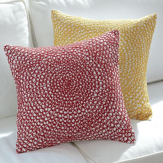 Spiral Embroidery Pillow Covers - Modern - Decorative Pillows - by West Elm