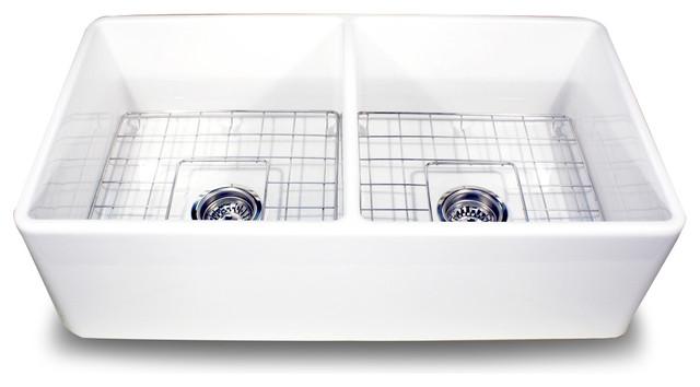 T-FCFS33-DBL traditional-kitchen-sinks