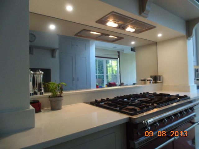 Toughened Mirror Kitchen Splashback Modern London By