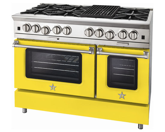 "BlueStar Platinum Series: 48"" Range - 48"" BlueStar Platinum Range in Zinc Yellow (RAL 1018)"