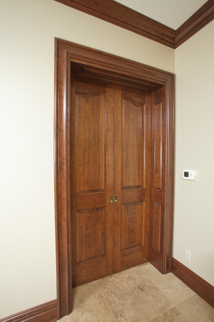 Solid Cherry Provincial Double Pocket Door Traditional