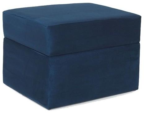 devon storage ottoman in navy blue modern footstools and ottomans by wayfair. Black Bedroom Furniture Sets. Home Design Ideas