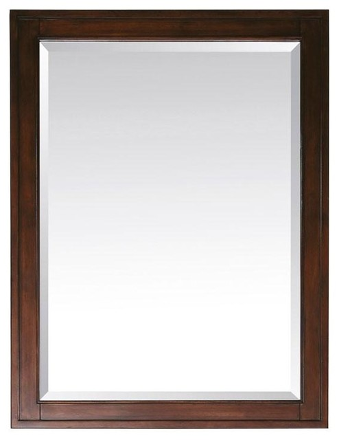 Avanity Madison 28 x 32 Mirror, Tobacco (MADISON-M28-TO) contemporary-bathroom-vanities-and-sink-consoles