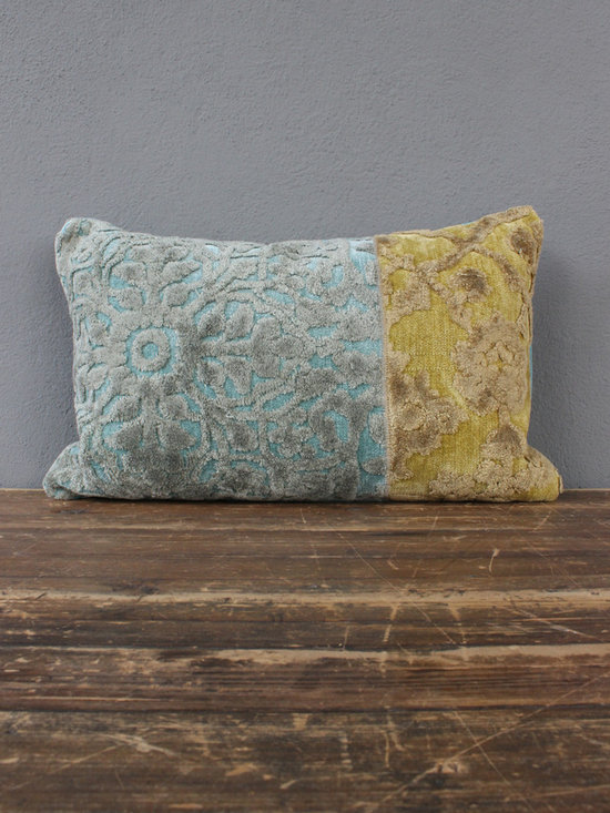 zither pillow – blue + green - view this item on our website for more information + purchasing availability: http://redinfred.com/shop/category/detail/throw-pillows/zither-pillow-blue-green/