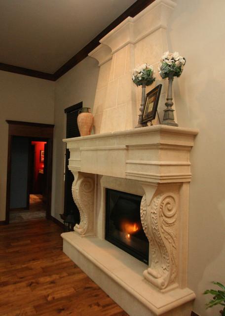 Italian Fireplace Mantels Styles Mediterranean Family