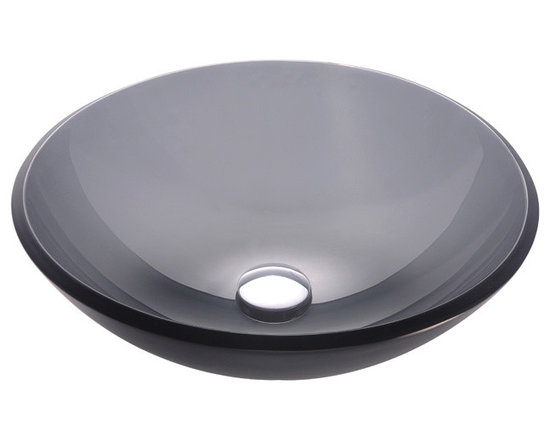 Kraus GV-104FR Frosted Black Glass Vessel Sink - Kraus GV-104FR Frosted Black Glass Vessel Sink