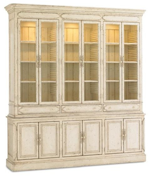 French Affair Open Storage - Traditional - China Cabinets And Hutches - by Caracole