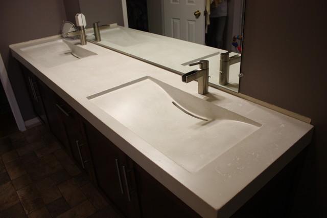 Bathroom Sinks Toronto : Concrete Double Mirage Sinks - Contemporary - Bathroom Sinks - toronto ...