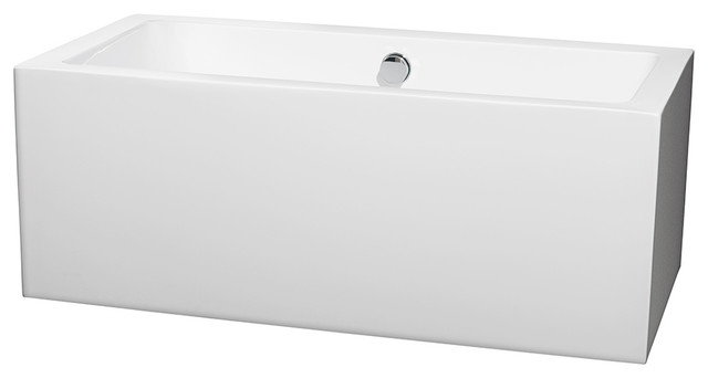 60 freestanding white bathtub chrome drain modern bathtubs