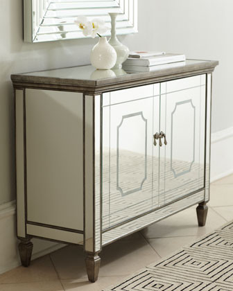 Alyssa Mirrored Chest traditional-dressers