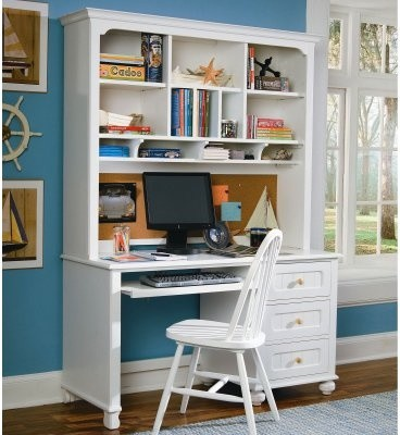 My Style Computer Desk with Optional Hutch modern-buffets-and-sideboards
