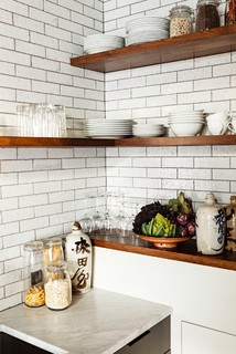 kitchen remodeling ideas using open shelving