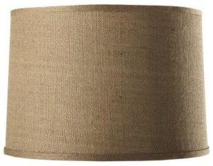 Home Decorators Collection Drum Large 18 In Diameter Natural Burlap Shade 13358 Contemporary