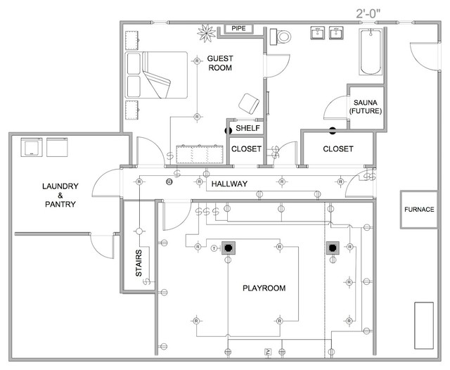 Electrical layout design industrial floor plan for Commercial floor plan designer