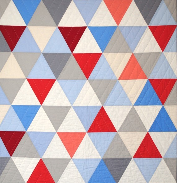 Equilateral Triangles Crib Quilt by Carson Converse Studio modern baby bedding