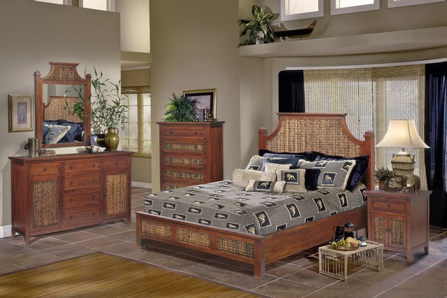 Fiji bedroom collection beach style bedroom furniture sets other metro by sea winds trading for Beach inspired bedroom furniture