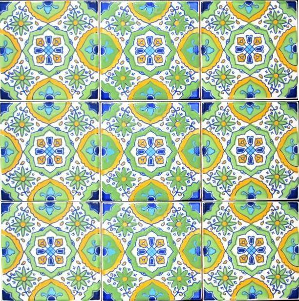"Hand Painted 4"" x 4"" Decorative Ceramic Tiles mediterranean-tile"