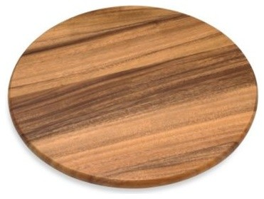 Acacia 16-Inch Wood Lazy Susan contemporary-pantry-and-cabinet-organizers