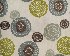 Zinnia Fabric by Galbraith and Paul in Sky contemporary upholstery fabric