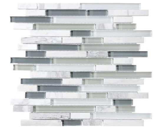 F14 Eternity Linear Glass Stone Blend Mosaics - • Length: 12""