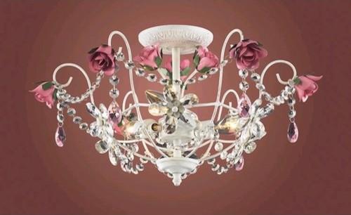 Mary-Kate and Ashley Rosavita Semi Flush Mount modern-chandeliers