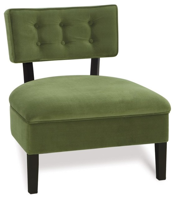 Avenue Six Curves Button Back Chair Contemporary